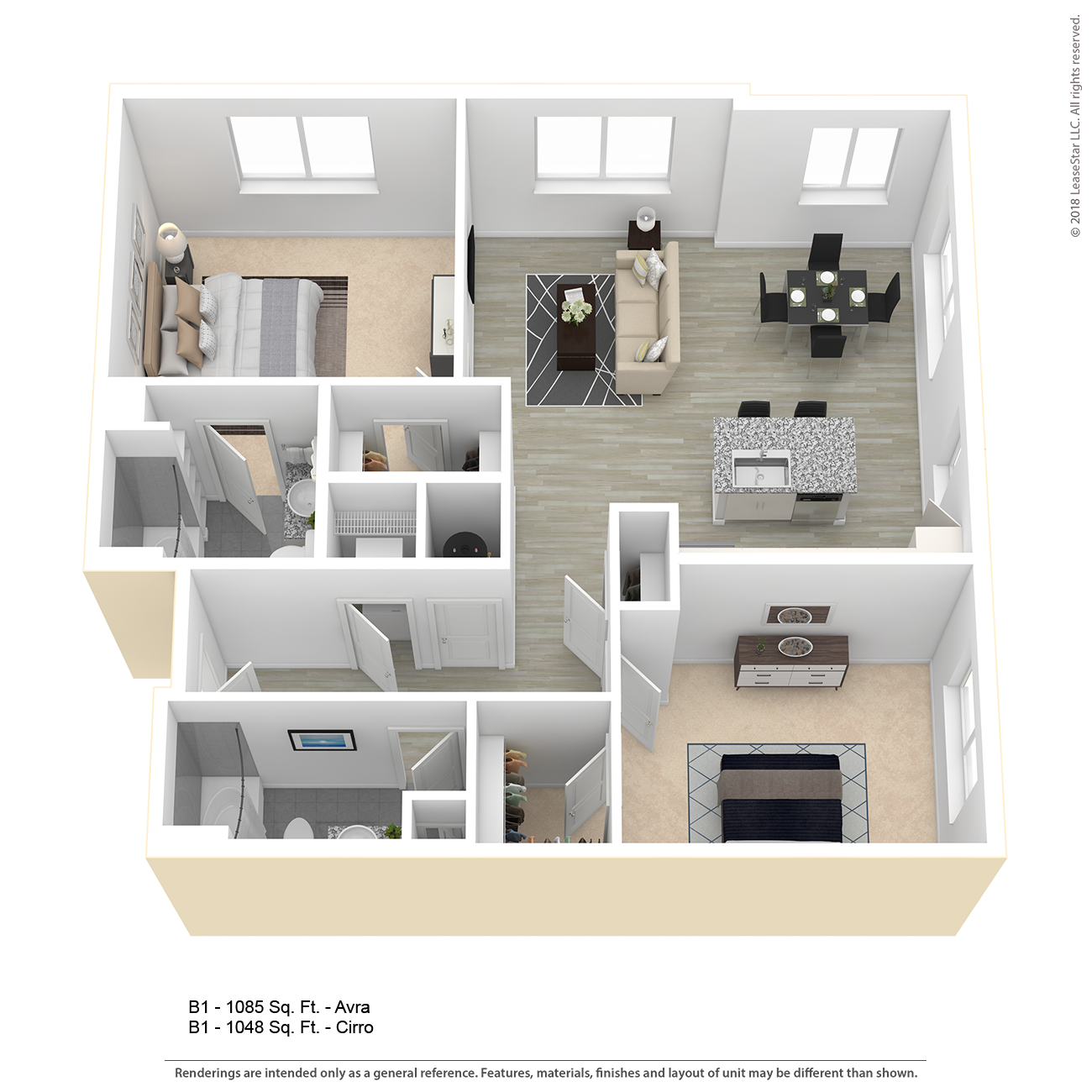 Center West Apartments Baltimore Md: B1 Apartment Floor Plan