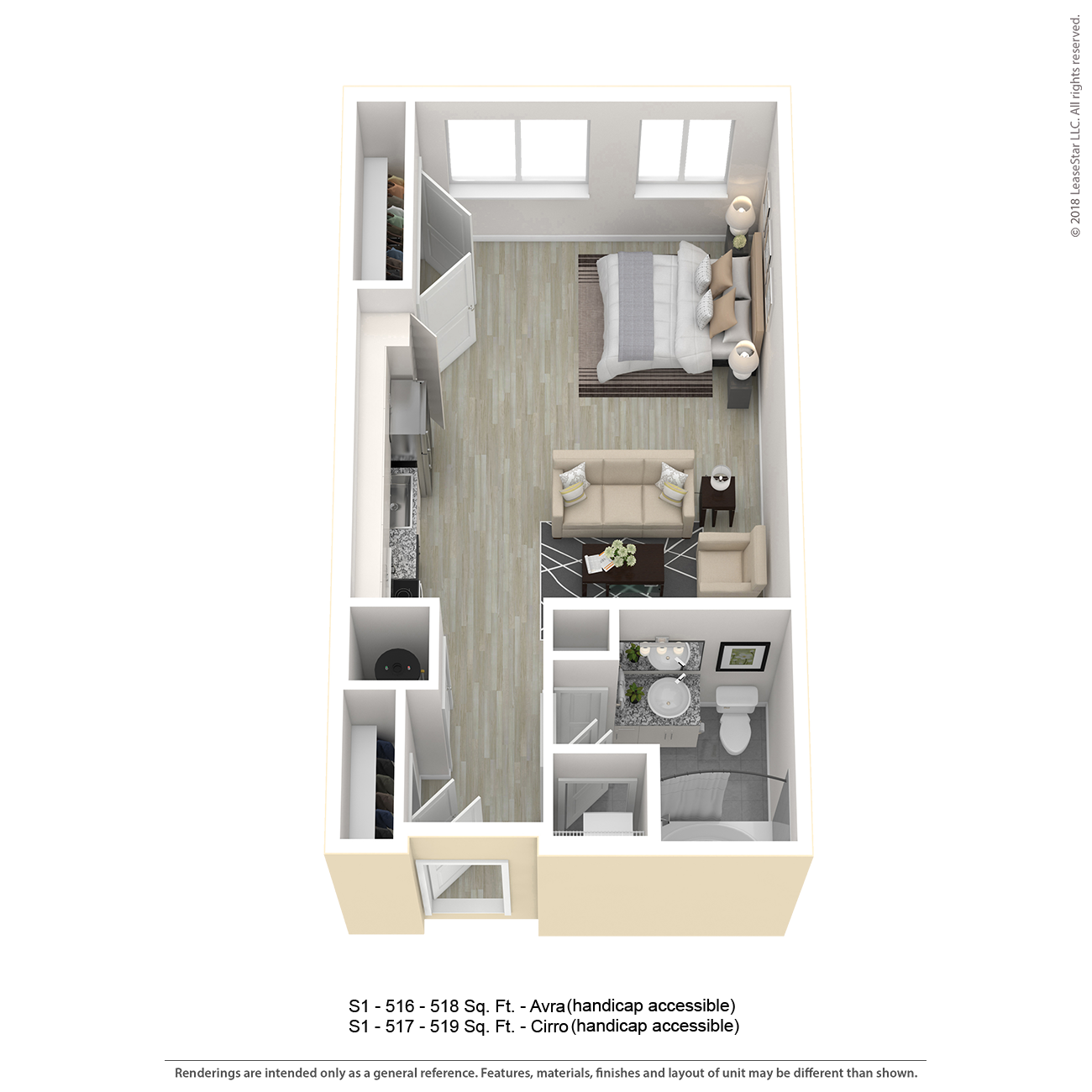 Center West Apartments Baltimore Md: S1 Apartment Floor Plan
