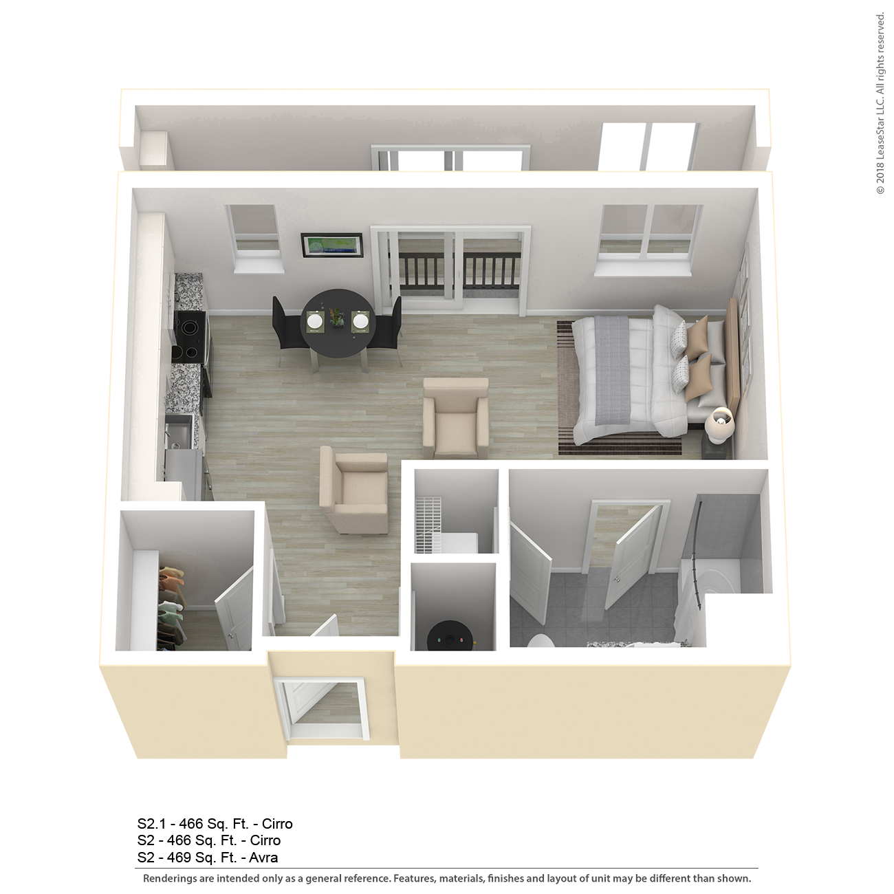 One Bedroom Apartment Nyc: S2.1 Apartment Floor Plan
